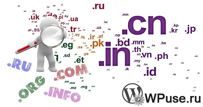 Предпочтения при регистрации Интернет-адреса в том или ином домене первого уровня